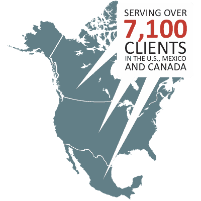 Serving 7,100 clients in North America