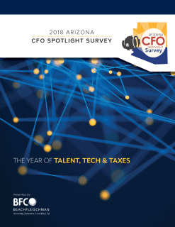 Download 2018 Arizona CFO Spotlight Survey report