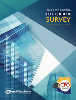 2019-2020 Arizona CFO Spotlight Survey cover