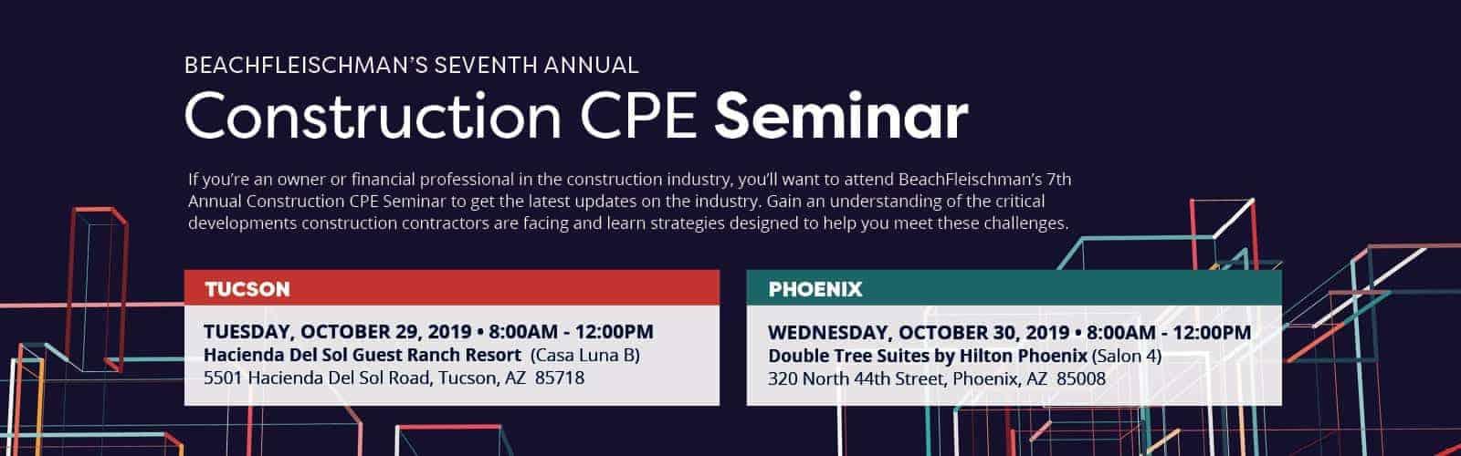 2019 Construction CPE Seminar