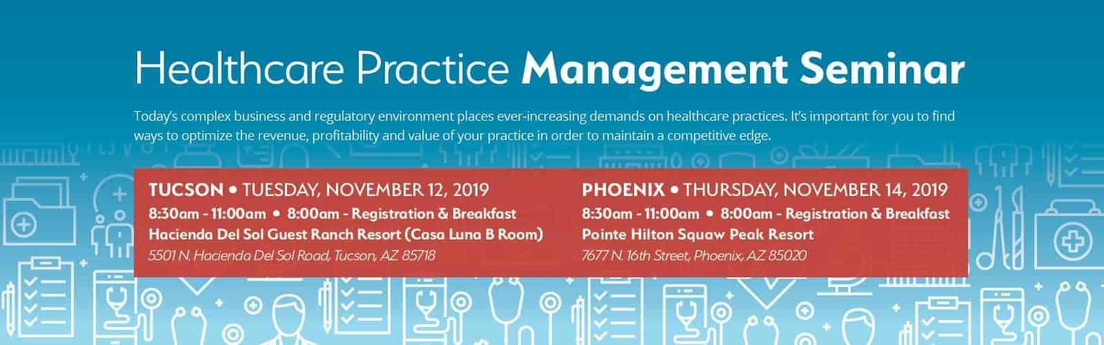 Healthcare Practice Management Seminar 2019