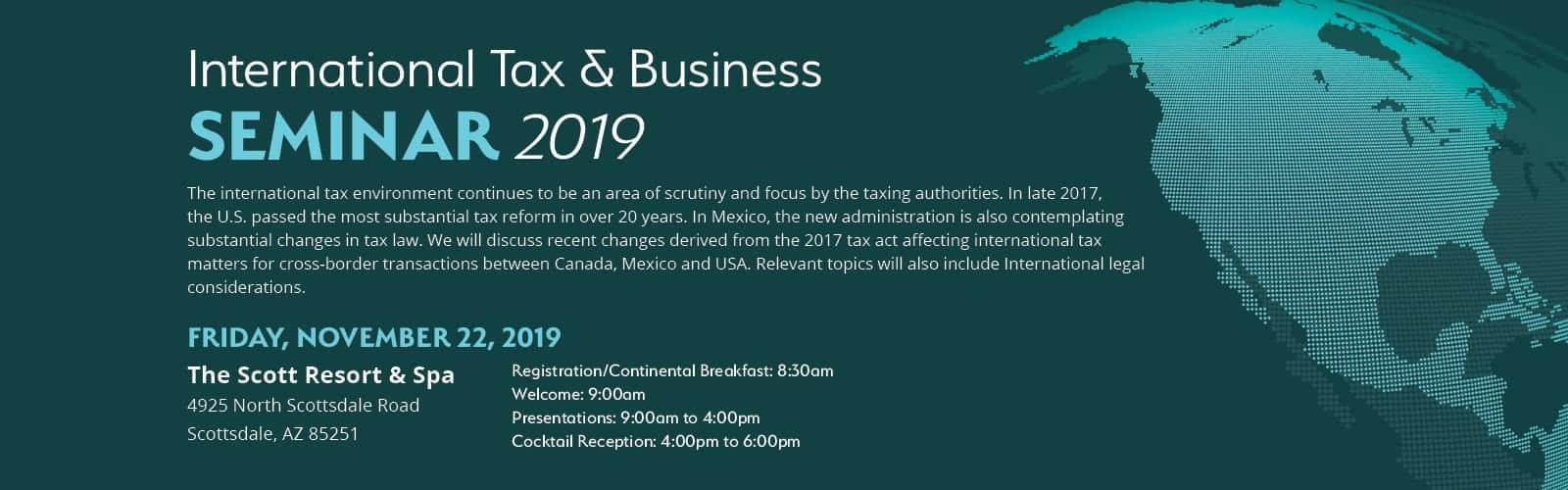 International Tax & Business Seminar 2019