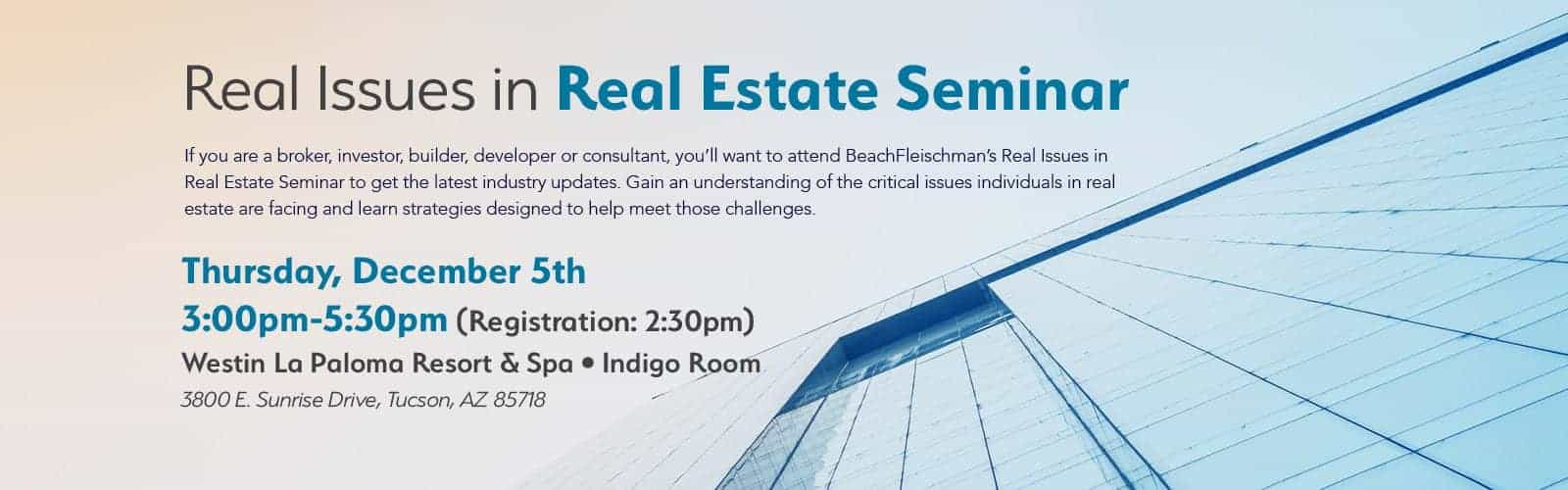 Real Issues in Real Estate Seminar 2019